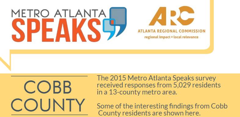 Cobb County Metro Atlanta Speaks 2015 Highlights