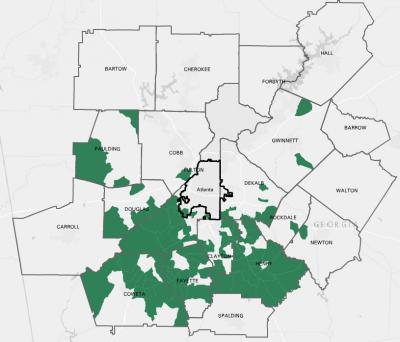 transportation warehousing jobs metro atlanta map