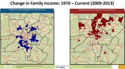 change in income atlanta maps